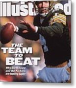 Green Bay Packers Qb Brett Favre... Sports Illustrated Cover Metal Print