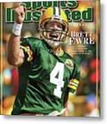 Green Bay Packers Qb Brett Favre Special Tribute Edition Sports Illustrated Cover Metal Print