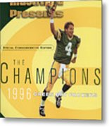 Green Bay Packers Qb Brett Favre, Super Bowl Xxxi Sports Illustrated Cover Metal Print