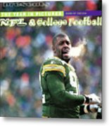Green Bay Packers Reggie White, 1997 Nfc Championship Sports Illustrated Cover Metal Print