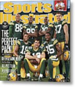 Green Bay Packers The Perfect Pack Sports Illustrated Cover Metal Print