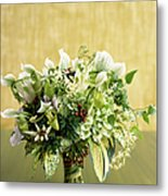 Green Bouquet Metal Print