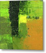Green Envy Abstract Painting Metal Print