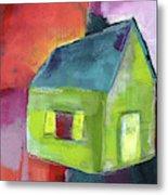 Green House- Art By Linda Woods Metal Print