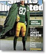 Green Machine What Makes Jordy Nelson The Nfls Most Sports Illustrated Cover Metal Print