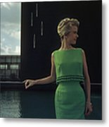 Green Two-piece Metal Print