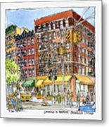 Greenwich Village Laundromat Metal Print