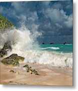 Greetings From The Beach Metal Print