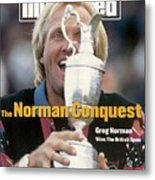 Greg Norman, 1993 British Open Sports Illustrated Cover Metal Print