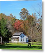 Gregg Cable House In Cades Cove Historic Area Of The Smoky Mountains Metal Print