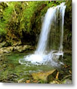 Grotto Falls On Trillium Gap Trail In Smoky Mountains National Park Metal Print