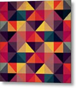 Grunge Colorful Seamless Pattern With Metal Print