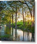 Guadalupe River Sunset Metal Print