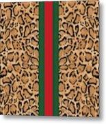 Gucci Leopard Print-1 Metal Print