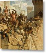 Guillaume De Clermont Defend La Ville D'acre, 1291 Metal Print