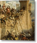 Guillaume De Clermont Defend La Ville D'acre, 1291 Metal Print