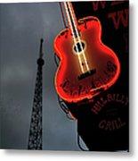 Guitar With Nashville Metal Print