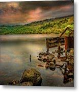 Gwynant Lake Old Boat House Metal Print