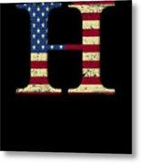 H Qanon Wwg1wga Usa Flag Group Q Anon Great Awakening Metal Print
