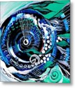 Half Smile Break The Ice Fish Metal Print