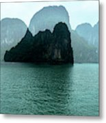 Halong Bay Mountains, Vietnam Metal Print