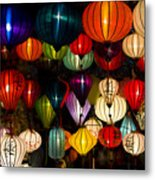 Handcrafted Lanterns In Ancient Town Metal Print