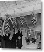 Hanging Tomatoes Metal Print