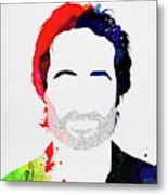 Hank Moody Watercolor Metal Print