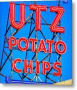 Hanover Pa Skyline - Utz Potato Chips No. 1 - Carlisle Street Metal Print