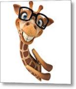 Happy Giraffe Metal Print