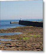 harbour at Seahouses on hazy summer day Metal Print