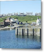 harbour at St. Abbs, Berwickshire Metal Print