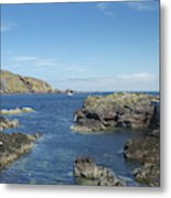 harbour entrance at St. Abbs, Berwickshire Metal Print