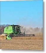 Harvesting Soybeans Metal Print