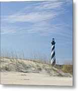 Hatteras Lighthouse And The Dunes Metal Print