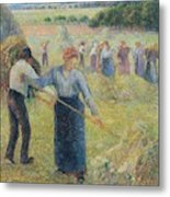 Haymaking At Eragny, 1891 Metal Print