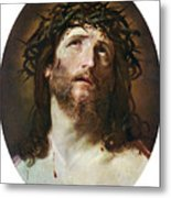 Head Of Christ Crowned With Thorns Metal Print