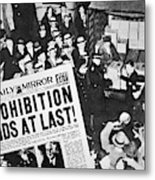 Headline Declaring The End Of Prohibition, 6th December, 1933 Metal Print