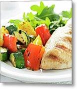Healthy Meal Metal Print