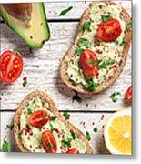 Healthy Whole Grain Bread With Avocado Metal Print