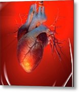 Heart Attack, Conceptual Artwork Metal Print