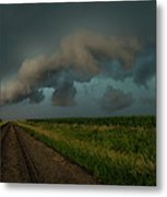 Heather's Birthday Storm Metal Print