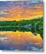 Heavenly Reflections In The Hill Country Metal Print