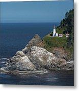 Heceta Head Lighthouse, Oregon Coast Metal Print