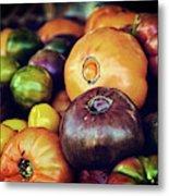 Heirloom Tomatoes At The Farmers Market Metal Print