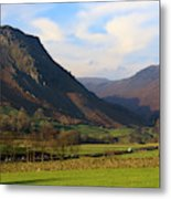 Helm Crag And Wythburn Fells Above Grasmere In The Lake District Metal Print