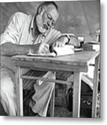 Hemingway On Safari Metal Print