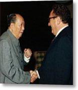 Henry Kissinger Meeting Mao Tse-tung Metal Print
