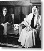 Henry Kissinger With King Faisal Metal Print