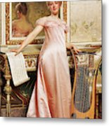 Her Music Lesson Metal Print